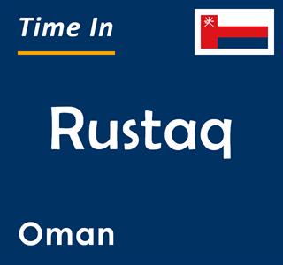 Current time in Rustaq, Oman