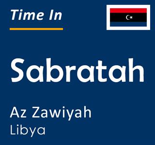 Current time in Sabratah, Az Zawiyah, Libya