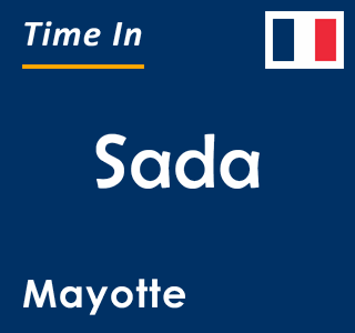 Current time in Sada, Mayotte