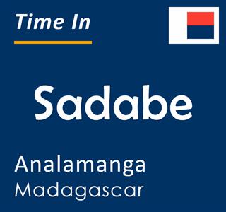 Current time in Sadabe, Analamanga, Madagascar