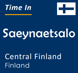 Current time in Saeynaetsalo, Central Finland, Finland