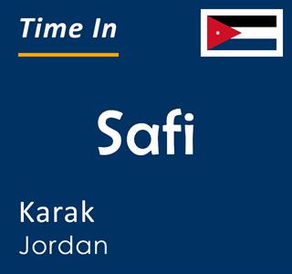 Current time in Safi, Karak, Jordan
