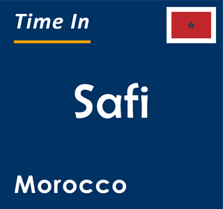 Current time in Safi, Morocco