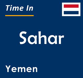 Current time in Sahar, Yemen