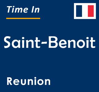 Current time in Saint-Benoit, Reunion