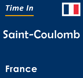 Current time in Saint-Coulomb, France