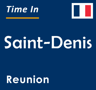 Current time in Saint-Denis, Reunion