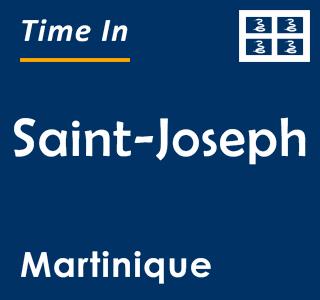 Current time in Saint-Joseph, Martinique