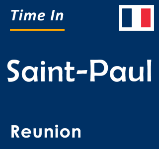 Current time in Saint-Paul, Reunion