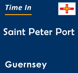 Current time in Saint Peter Port, Guernsey