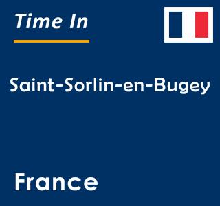 Current time in Saint-Sorlin-en-Bugey, France