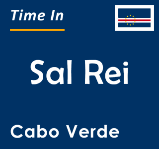 Current time in Sal Rei, Cabo Verde