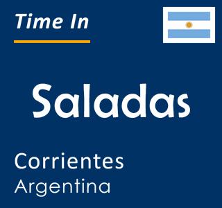Current time in Saladas, Corrientes, Argentina