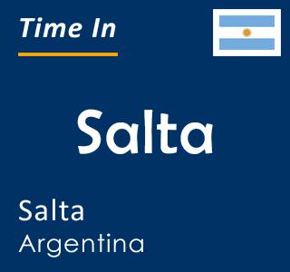 Current time in Salta, Salta, Argentina