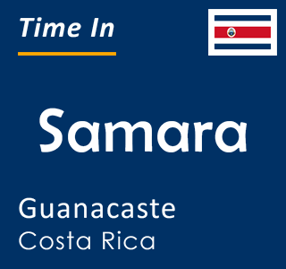 Current time in Samara, Guanacaste, Costa Rica