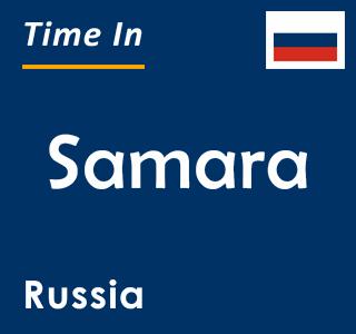 Current time in Samara, Russia