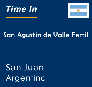 Current time in San Agustin de Valle Fertil, San Juan, Argentina