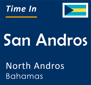 Current time in San Andros, North Andros, Bahamas