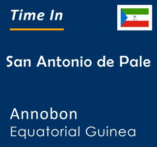 Current time in San Antonio de Pale, Annobon, Equatorial Guinea