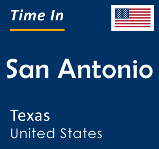 Current time in San Antonio, Texas, United States