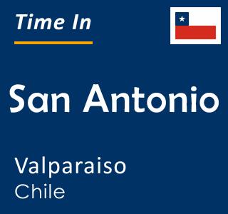 Current time in San Antonio, Valparaiso, Chile
