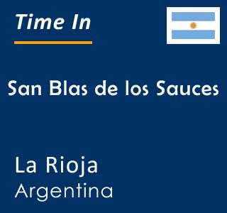 Current time in San Blas de los Sauces, La Rioja, Argentina