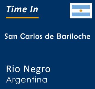 Current time in San Carlos de Bariloche, Rio Negro, Argentina