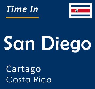 Current time in San Diego, Cartago, Costa Rica