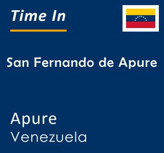 Current time in San Fernando de Apure, Apure, Venezuela