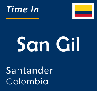 Current time in San Gil, Santander, Colombia