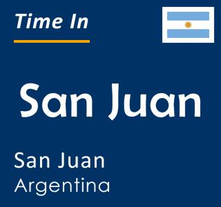 Current time in San Juan, San Juan, Argentina