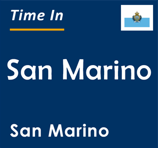 Current time in San Marino, San Marino