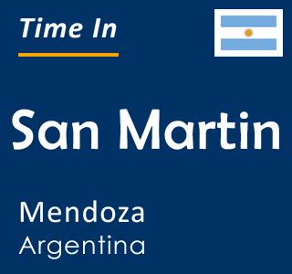 Current time in San Martin, Mendoza, Argentina