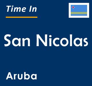 Current time in San Nicolas, Aruba