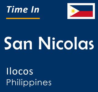 Current time in San Nicolas, Ilocos, Philippines