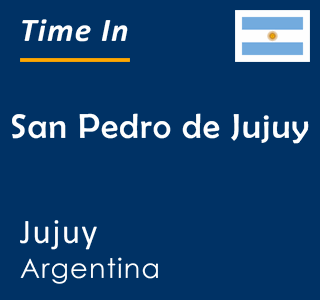 Current time in San Pedro de Jujuy, Jujuy, Argentina