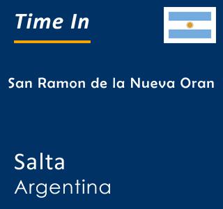 Current time in San Ramon de la Nueva Oran, Salta, Argentina