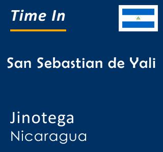 Current time in San Sebastian de Yali, Jinotega, Nicaragua