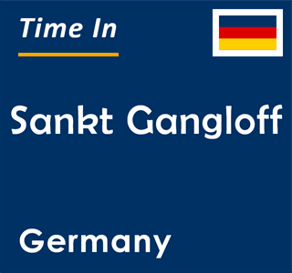 Current time in Sankt Gangloff, Germany