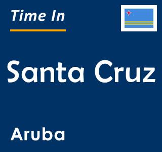 Current time in Santa Cruz, Aruba