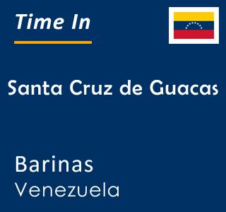 Current time in Santa Cruz de Guacas, Barinas, Venezuela