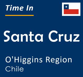 Current time in Santa Cruz, O'Higgins Region, Chile