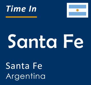 Current time in Santa Fe, Santa Fe, Argentina