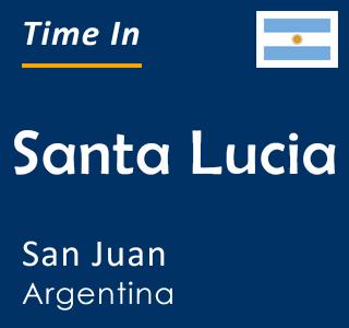 Current time in Santa Lucia, San Juan, Argentina
