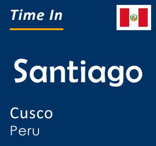 Current time in Santiago, Cusco, Peru