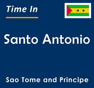 Current time in Santo Antonio, Sao Tome and Principe
