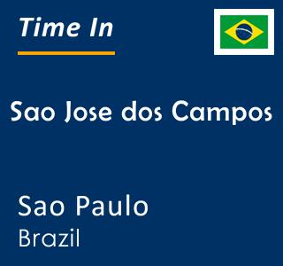 Current time in Sao Jose dos Campos, Sao Paulo, Brazil