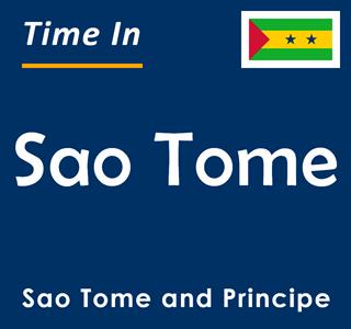 Current time in Sao Tome, Sao Tome and Principe