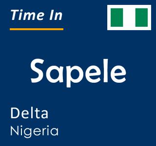 Current time in Sapele, Delta, Nigeria