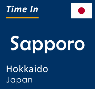 Current time in Sapporo, Hokkaido, Japan